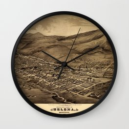 Map Of Helena 1875 Wall Clock
