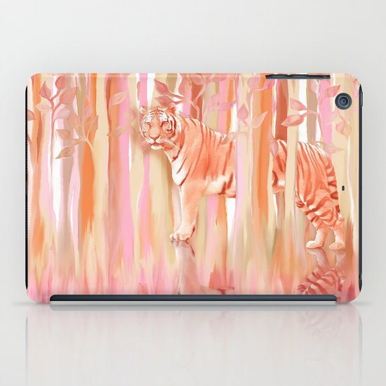 Tiger in the Trees - Painting / Collage iPad Case