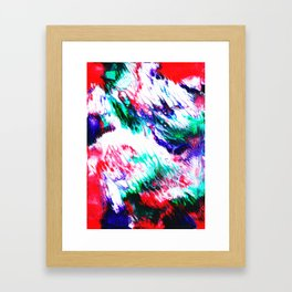 Colorful Fluctuation Framed Art Print