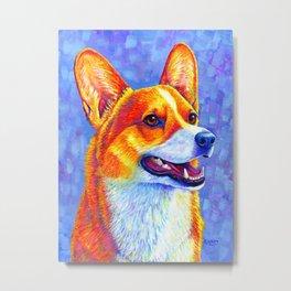 Mischief Maker - Pembroke Welsh Corgi Dog Metal Print