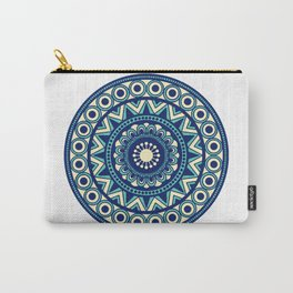 Mandala Marimekko Style Acqua and Blue Carry-All Pouch