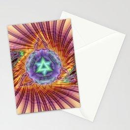 Alteuisha- Abstract Spiritual Fractal Art- Healing Art- Jewish Art- Merrkabbah Art Stationery Cards