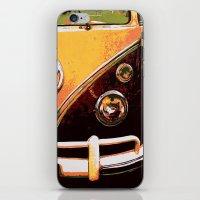 volkswagon iPhone & iPod Skins featuring Volkswagon Van by Alexandra Kube