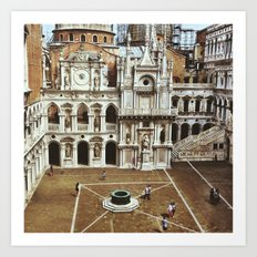 Doge's Palace Courtyard Art Print