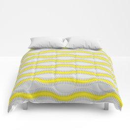 Yellow lines Comforters