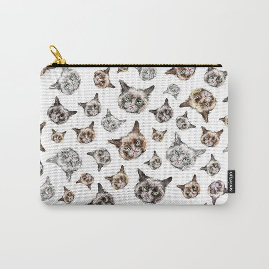 Cat Power on White Carry-All Pouch