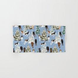 Coonhound Forest Blue Hand & Bath Towel