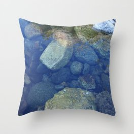Rocks Under Water I Throw Pillow