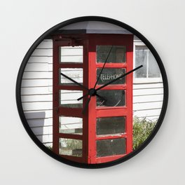 Old Telephone box Wall Clock