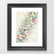Cuben Split Framed Art Print