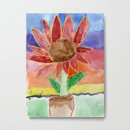 Flower in the Sunset Metal Print