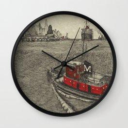 Morgan Tugboat, Hudson river, New York Wall Clock