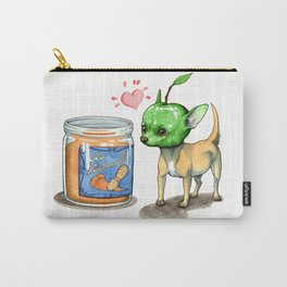 Apple Nutter Chihuahua Carry-All Pouch