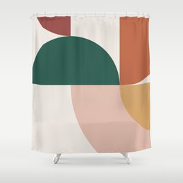Abstract Geometric 12 Shower Curtain