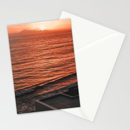 Sunset in La Palma island with Teide volcano in the background Stationery Cards