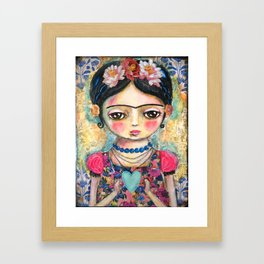 The heart of Frida Kahlo  Framed Art Print