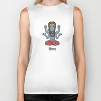 shiva Biker Tanks featuring shiva by Schmucky Duck