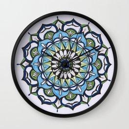 Mediterranean Mandala Wall Clock