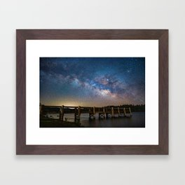 Milk Way over Lake Cuyamaca, CA Framed Art Print