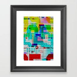 Glitch 002 Framed Art Print
