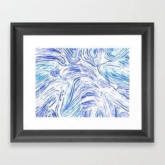 Lines of Waves Framed Art Print