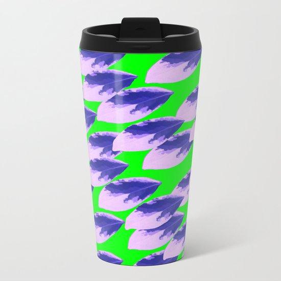 The Limeade Leaves Metal Travel Mug
