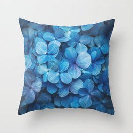 Fifty Shades of Blue Throw Pillow