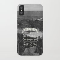 pocketfuel iPhone & iPod Cases featuring Be strong and courageous! by Pocket Fuel