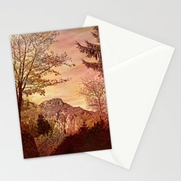 fall in mountains Stationery Cards