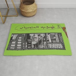 where is all the jungle sketch Rug