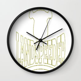 Landspeeder T-Shirt Wall Clock