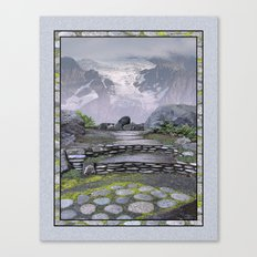 WALKWAY TO THE HANGING GLACIER Canvas Print