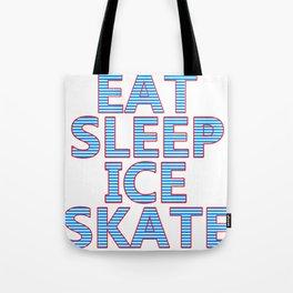skating skating to skate gift skates ice Tote Bag