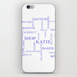 Amish Sweet Shop Mysteries Word Puzzle iPhone Skin