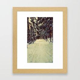 Wintery Snowshoe Hike Framed Art Print