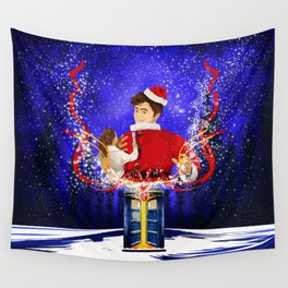 10th Doctor celebrate christmas Wall Tapestry