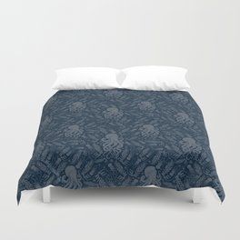 Octopus Squiggly King Of The Sea Pattern Duvet Cover