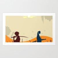 samurai champloo Art Prints featuring Samurai Champloo by Frank Deuce
