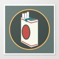 cigarette Canvas Prints featuring cigarette by Simon Khoo's Illustration