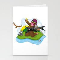 bigfoot Stationery Cards featuring Bigfoot Rocks! by Peteman