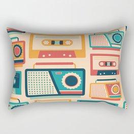 Audio Cassettes and Radios Rectangular Pillow