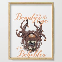 Beauty Is In The Eye Of The Beholder RPG Tabletop Serving Tray