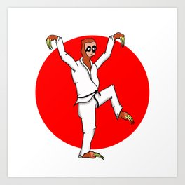 Sloth Karate Art Print