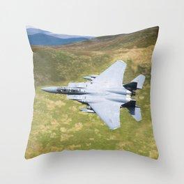 Low Flying F-15E Strike Eagle Throw Pillow