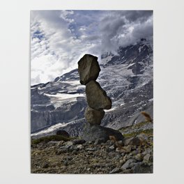 Mountain Cairn Poster