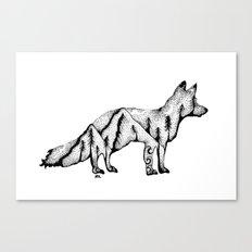 Wandering Fox, Hidden Scene, Nature, Mountains and Forest, Ocean, Wanderlust, Travel Canvas Print