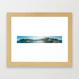 Catalina Island Panorama Framed Art Print