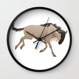 Wildebeest Wall Clock