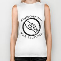 divergent Biker Tanks featuring Divergent - Abnegation The Selfless by Lunil