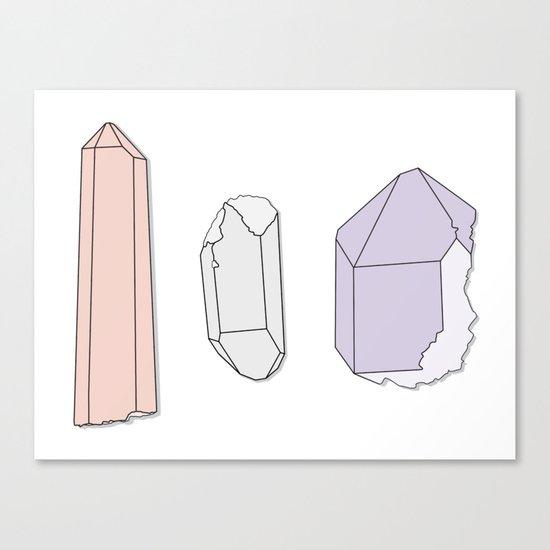 Crystals Trio Canvas Print